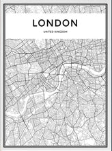 Load image into Gallery viewer, London Map Wall Art Poster London City Skyline Canvas Black and White Modern Abstract Art Prints For Office or Living Room Modern Home Decor