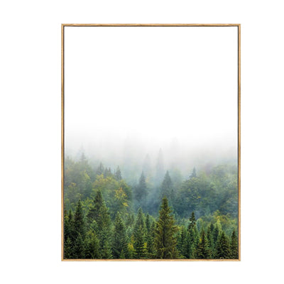 Inspirational Pine Forest Landscape and Positive Quotes For Life Fine Art Canvas Prints Nordic Poster Wall Art For Office Living Room Home Decor