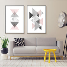 Load image into Gallery viewer, Minimalist Geometric Nordic Abstract Wall Art Canvas Prints Modern Art Posters For Office Bedroom or Living Room Pink Grey White Home Decor
