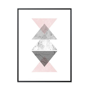 Minimalist Geometric Nordic Abstract Wall Art Canvas Prints Modern Art Posters For Office Bedroom or Living Room Pink Grey White Home Decor