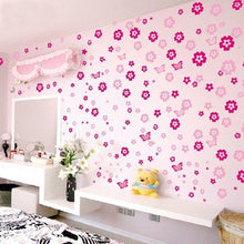 Load image into Gallery viewer, Cute Colorful Flowers And Butterflies Wall Decals Removable DIY Wall Stickers For Bedroom Living Room Wedding Decor Kids Girls Rooms