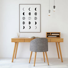 Load image into Gallery viewer, Abstract Moon Phases Chart Minimalist Scandinavian Style Black And White Wall Art Fine Art Canvas Prints Nordic Style Modern Interior Decor