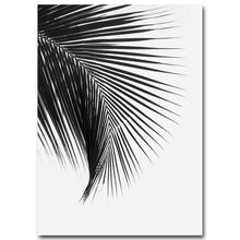 Load image into Gallery viewer, Tropical Palm Leaves Simple Minimalist Black & White Wall Art Posters Fine Art Canvas Prints For Living Room Modern Scandinavian Interior Design