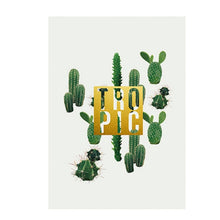 Load image into Gallery viewer, Tropical Green and Gold Cactus Prints Abstract Nordic Wall Art Inspirational Quotations Canvas Posters For Modern Home Decoration