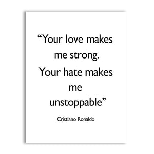 Cristiano Ronaldo Quotes Wall Art Posters Dreams Are Not What You See In Your Sleep Minimalist Black & White Fine Art Canvas Prints Inspirational Quotes Posters