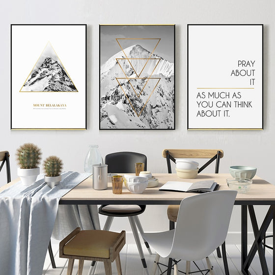 Mount Belalakaya Motivation Quotation Mountain Wall Art Nordic Style Fine Art Canvas Prints Minimalist Pictures For Modern Home Office Interior Decor