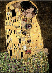 Famous Painting, Gustav Klimt, The Kiss, Poster Art Canvas Print Wall Art Decoration Classic Paintings Printed on Canvas For Modern Home Decor