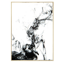 Load image into Gallery viewer, Abstract Black Ink Canvas Poster Water Art Black and White Paintings Modern Photographic Prints For Offices Salons and Modern Home Decor