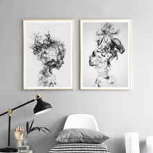 Load image into Gallery viewer, Beautiful Girl Abstract Beauty Portrait Black and White Fine Art Canvas Prints Nordic Style Fashion Posters Modern Wall Art For Home Interior Decor