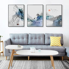 Load image into Gallery viewer, Abstract Mystical Sunrise Wall Art Fine Art Canvas Prints Nordic Style Pictures For Living Room Dining Room Modern Scandinavian Home Decor