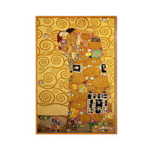 Famous Paintings Gustav Klimt The Kiss and The Embrace Fine Art Canvas Prints Classic Art Wall Posters For Modern Salon Office Home Decor