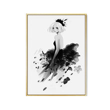 Load image into Gallery viewer, Modern Black White Fashion Posters Stylish Catwalk Models Salon Art Canvas Prints For Boutiques Offices Salons And Modern Home Decor