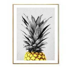 Load image into Gallery viewer, Today Is The Day Motivational Wall Art Poster Bright Sunny Simple Golden Pineapple Modern Nordic Canvas Prints For Modern Home Decor