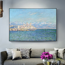 Load image into Gallery viewer, Famous Artists Claude Monet Wall Art Antibes Afternoon Effect Painting Fine Art Canvas Giclee Print Classic Impressionist Landscape Paintings