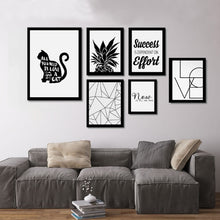 Load image into Gallery viewer, Modern Inspirational Minimalist Black and White Nordic Wall Art Canvas Quotes Motivational Posters For Modern Life Home and Office