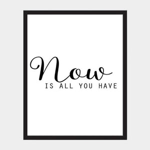 Modern Inspirational Minimalist Black and White Nordic Wall Art Canvas Quotes Motivational Posters For Modern Life Home and Office