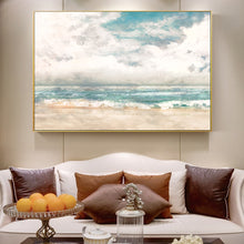 Load image into Gallery viewer, Big Sky Seascape Wall Art Fine Art Canvas Print Contemporary Landscape Pictures For Living Room Bedroom Classic Home Interior Decor