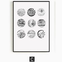 Load image into Gallery viewer, Tree Rings Abstract Wood Patterns Wall Art Eyecatching Nordic Nature Canvas Prints Paintings For Modern Living Dining Room Home Decor