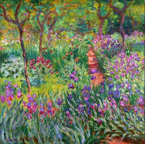 Famous Artists Wall Art Claude Monet The Iris Garden at Giverny Fine Art Canvas Print Classic Colorful Impressionist Floral Wall Art Decor