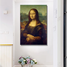 Load image into Gallery viewer, Mona Lisa Canvas Poster Fine Art Print Painting by Leonardo da Vinci Italian Renaissance Art Wall Poster Famous Painting For Modern Home Decor