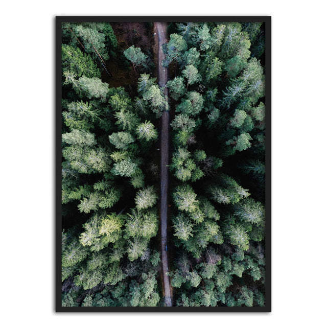 You Are Wonderful Green Leaves Forest View Nordic Wall Art Posters Fine Art Canvas Prints Pictures For Office or Living Room Interior Decor