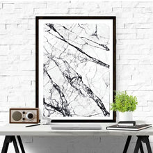 Load image into Gallery viewer, Abstract Marble Effect Wall Art Minimalist Black White Fine Art Canvas Print Simple Stylish Nordic Style Picture For Modern Interior Decor