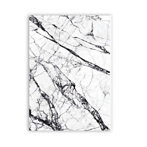 Abstract Marble Effect Wall Art Minimalist Black White Fine Art Canvas Print Simple Stylish Nordic Style Picture For Modern Interior Decor