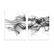 Load image into Gallery viewer, Stylish Abstract Black Vapor Trails Black And White Posters Fine Art Canvas Prints For Modern Office Decor Home Interior Wall Art Decoration