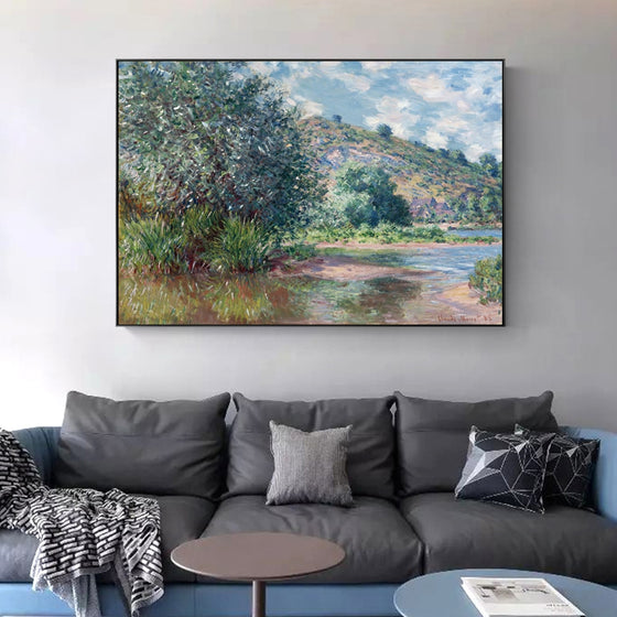 Famous Paintings Claud Monet Landscape at Port-Villez Fine Art Canvas Print Classic Impressionism Landscape Wall Art Living Room Home Decor