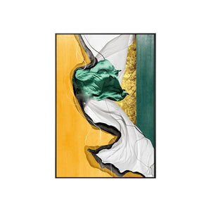 Abstract Luxury Nordic Marble Wall Art Stylish Golden Blue Green Red Fine Art Canvas Prints For Modern Home Office Interior Glam Decor
