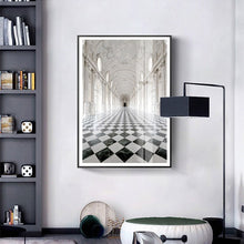 Load image into Gallery viewer, Elegant Interior Black And White Wall Art Poster Fine Art Canvas Print Architectural Style Pictures For Modern Home Office Interior Decoration