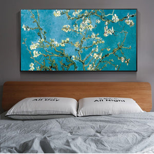 Famous Artists Wall Art Vincent Van Gogh Almond Blossoms Painting Fine Art Canvas Giclee Print Classic Impressionist Floral Wall Art Decor