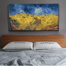 Load image into Gallery viewer, Famous Artists Van Gogh, Last Painting - Wheatfield with Crows, Poster Wall Art Fine Art Canvas Print For Living Room Bedroom Wall Decor