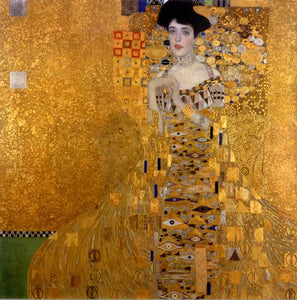 Gustav Klimt The Lady in Gold and Lady with Fan Decorative Wall Art Poster Fine Art Canvas Prints Famous Paintings Posters For Modern Home Decor