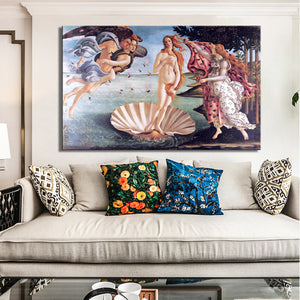 Classic Painting Botticelli's Birth of Venus Wall Art Poster Fine Art Canvas Print For Office Salon Living Room Bedroom Art Famous Painting Poster
