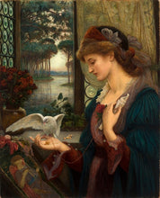 Load image into Gallery viewer, Classic Painting, Love's Messenger by Marie Spartali Stillman British Pre-Raphaelite Fine Art Canvas Print Painting For Home Decor And Art Lovers