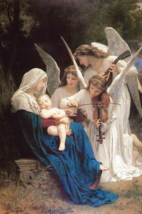 Famous Painting Song of the Angels by William-Adolphe Bouguereau Classic Neoclassicism Oil Painting Fine Art Canvas Print Bedroom Posters