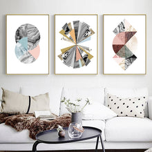 Load image into Gallery viewer, Modern Colorful Abstract Nordic Style Fine Art Canvas Prints Geometrical Marble Design Wall Art For Living Room Dining Room Home Interior Decor