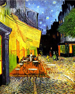Vincent Van Gogh, Café Terrace at Night, Poster Famous Painting Wall Art Canvas Print Fine Art Poster for Living Room Modern Home Decoration