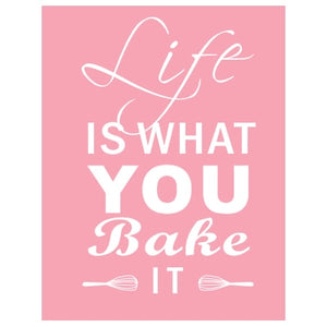 Life Is What You Bake It Kitchen Wall Art Posters Stylish Nordic Colorful Simple Canvas Prints For Kitchen Cafe and Modern H