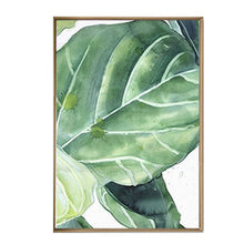 Load image into Gallery viewer, Modern Abstract Tropical Plants Canvas Poster Prints Green Leaves Paintings For Office Conservatory or Living Room Modern Home Decor