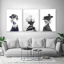 Load image into Gallery viewer, Abstract Fashion Figures Fine Art Canvas Prints Black and White Posters Nordic Wall Art For Offices, Salons, Boutiques and Modern Home Decor