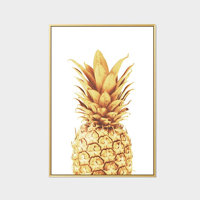 Abstract Gold Pineapple Modern Nordic Minimalist Wall Art Simple Quotes For Life Canvas Art Posters For Kitchen Modern Home Decoration