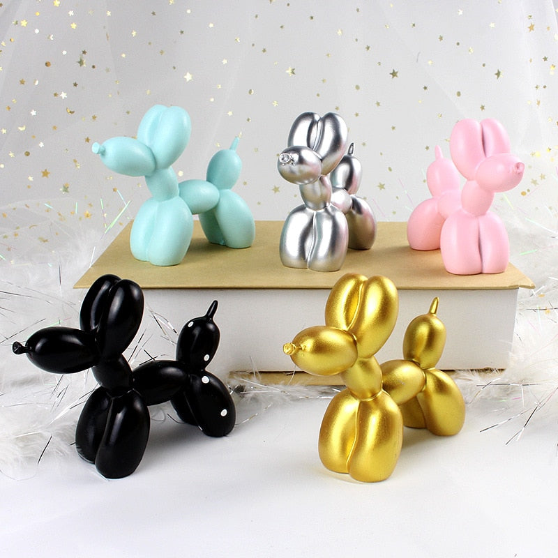 Very Cute Little Balloon Dog Sculpture Fashion Home Decorations Desktop Ornament Modern Cake Decoration Dog Lovers Nordic Home Decor 5 Colors