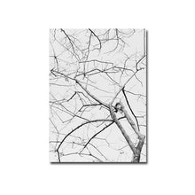 Load image into Gallery viewer, Abstract Nordic Nature Poster Winter Tree Branches Black White Modern Landscape Canvas Print Wall Art For Office Modern Home Decoration