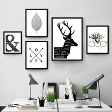 Load image into Gallery viewer, Abstract Symbols Scandinavian Wall Art Black And White Minimalist Nordic Giclee Canvas Posters For Living Room Home Decor