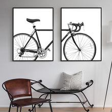 Load image into Gallery viewer, Black & White Racer Bike Bicycle Wall Art Posters Minimalist Cycle Pictures Fine Art Canvas Prints Nordic Style Pictures For Cycling Enthusiasts