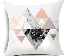Load image into Gallery viewer, Nordic Decor Cushion Covers Pink Geometric Tropic Pineapple Marble Pillow Cover 45x45cm Polyester Cushion Case Sofa Bed Decorative Pillow