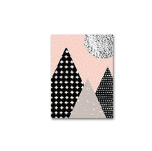 Load image into Gallery viewer, Abstract Nordic Mountain Scenery Wall Art Pictures Pink Black Grey Fine Art Canvas Prints Scandinavian Style Home Interior Bedroom Wall Decor