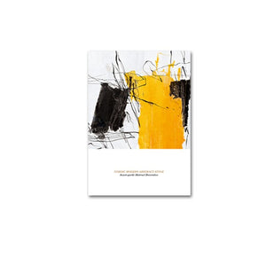 Modern Colorful Abstract Nordic Fine Art Canvas Prints Yellow Black Jade Contemporary Pictures Scandinavian Style Wall Art Modern Home Decor